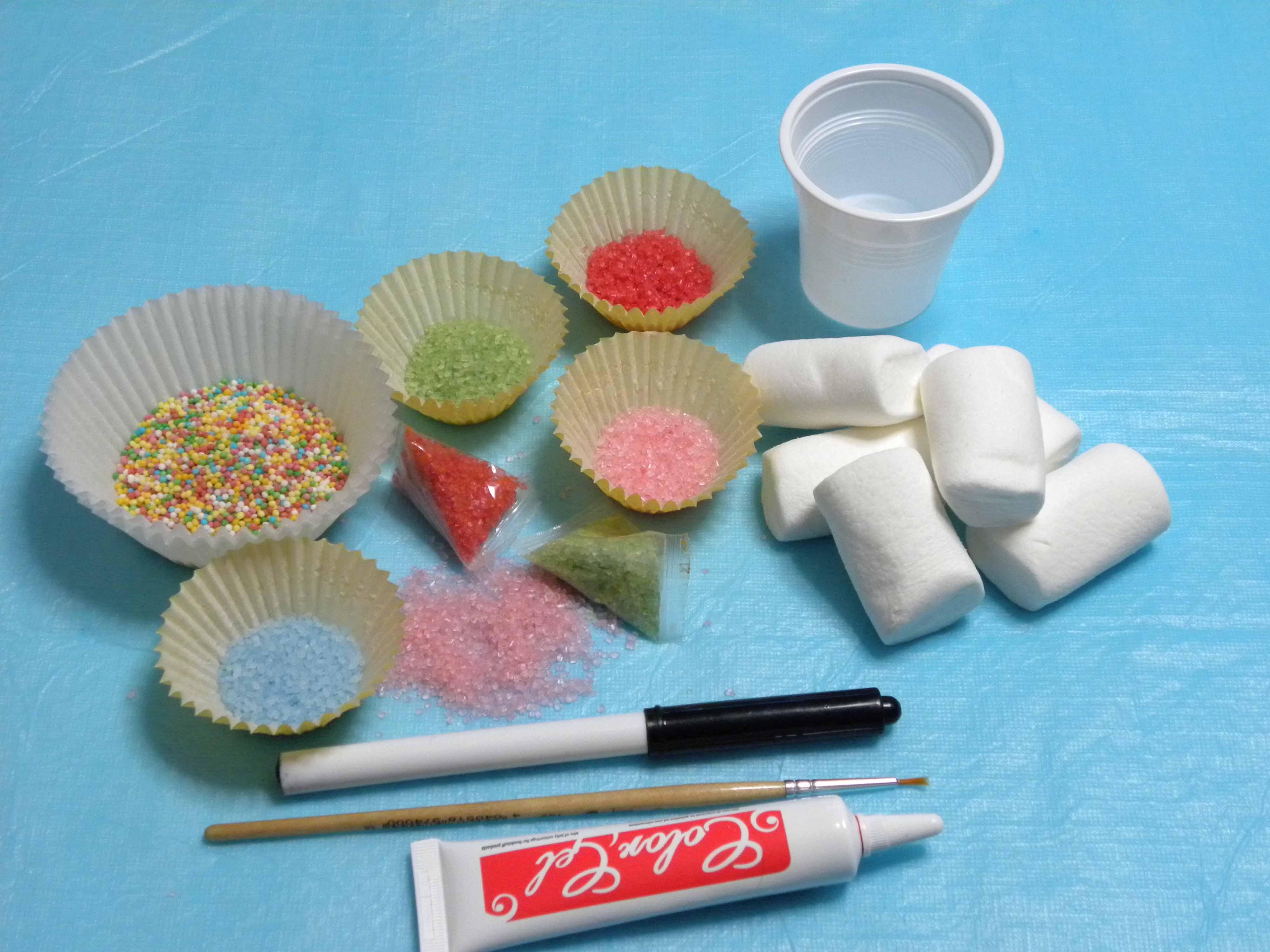 Ingredienti per i Clown di Marshmallows