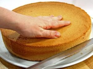 Ribaltare il Pan di Spagna e Dividerlo a Metà