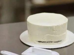 Coprire la Torta con un Sottile Strato di Panna