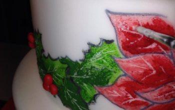 Tutorial: Dipingere una Stella di Natale sulla Torta