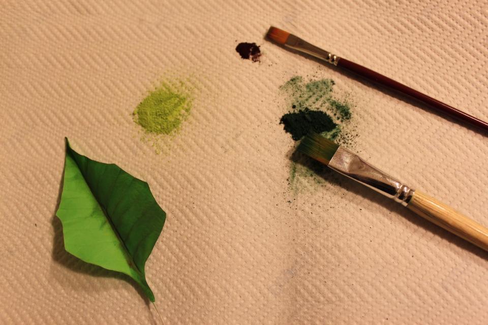 Sfumare le Foglie con il Colorante Verde