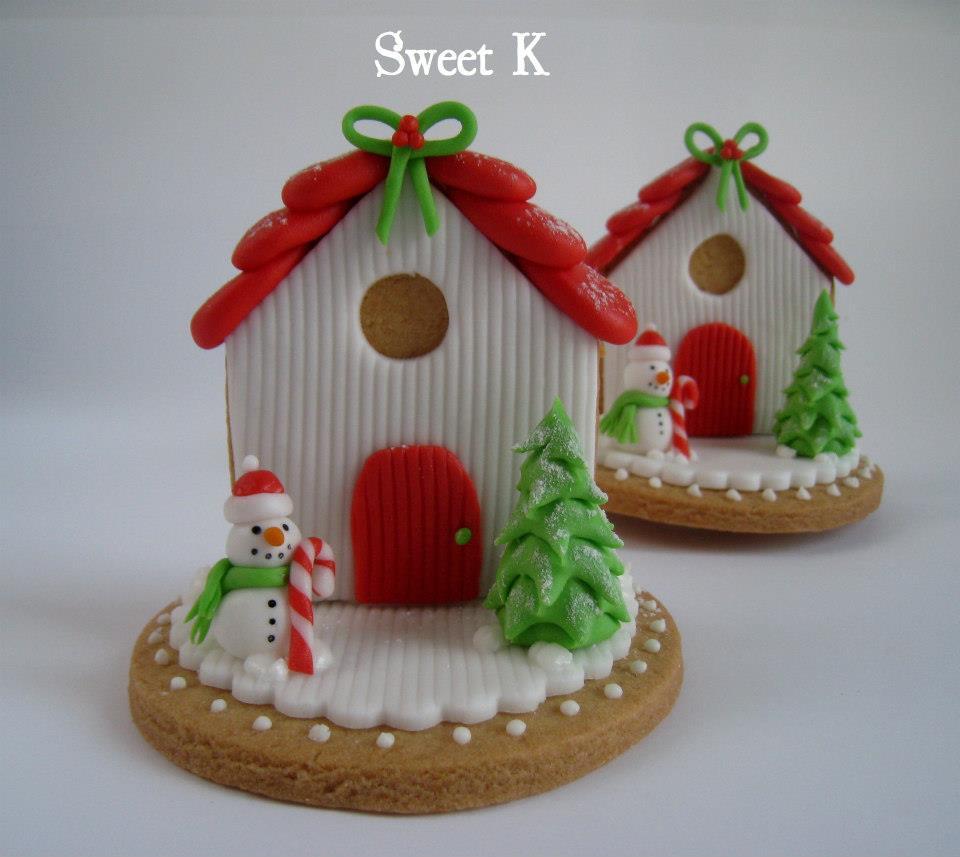 Segnaposto Natalizi Pasta Di Zucchero.Tutorial Casetta Di Natale Segnaposto Happy Cakes To You