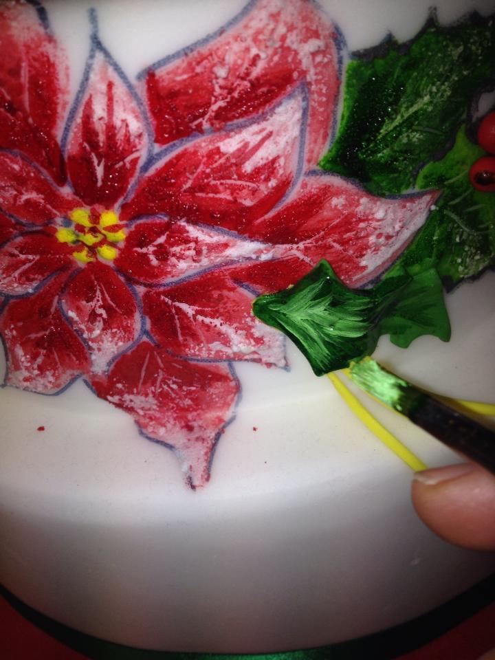 Mescolare il Colorante Verde e Bianco per Creare delle Sfumature sulle Foglie