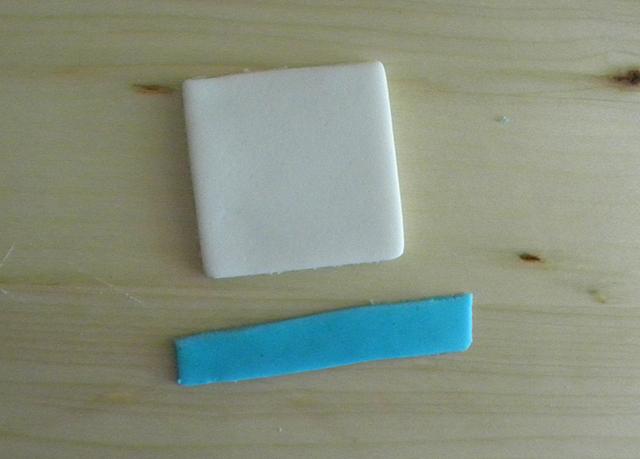 Creare il Colletto della Camicia con Pasta di Zucchero Azzurra