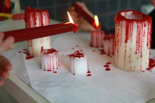 Speciale Halloween 10 Idee per Arredare Casa Candele Insanguinate