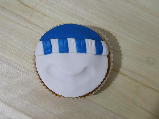 Tutorial di Natale: Cupcake Pupazzo di Neve-Creare la Fascia del Cappello in PDZ