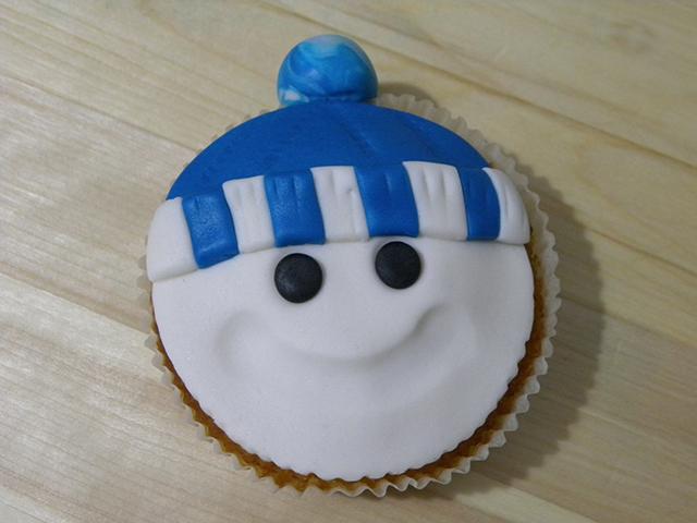 Tutorial di Natale: Cupcake Pupazzo di Neve-Realizzare gli Occhi del Pupazzo di Neve