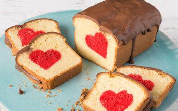 Ricetta di San Valentino: Plumcake con Cuore all'Interno