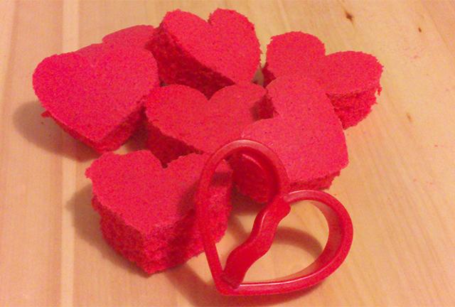 Ricetta di San Valentino Plumcake con Cuore all'Interno-Ritagliare i Cuori di Torta