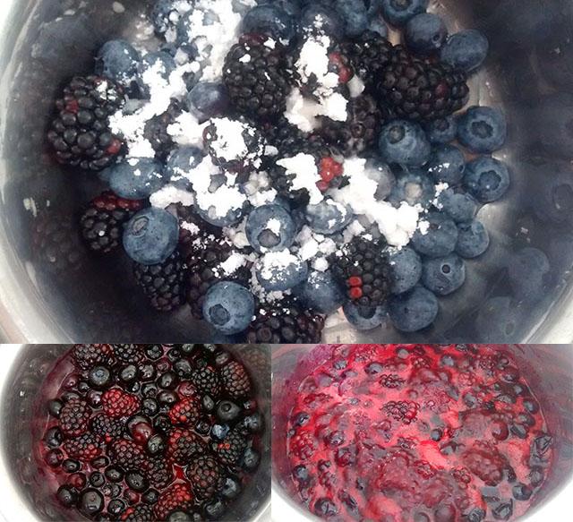Cheesecake Fredda ai Frutti di Bosco-La Glassa ai Frutti di Bosco