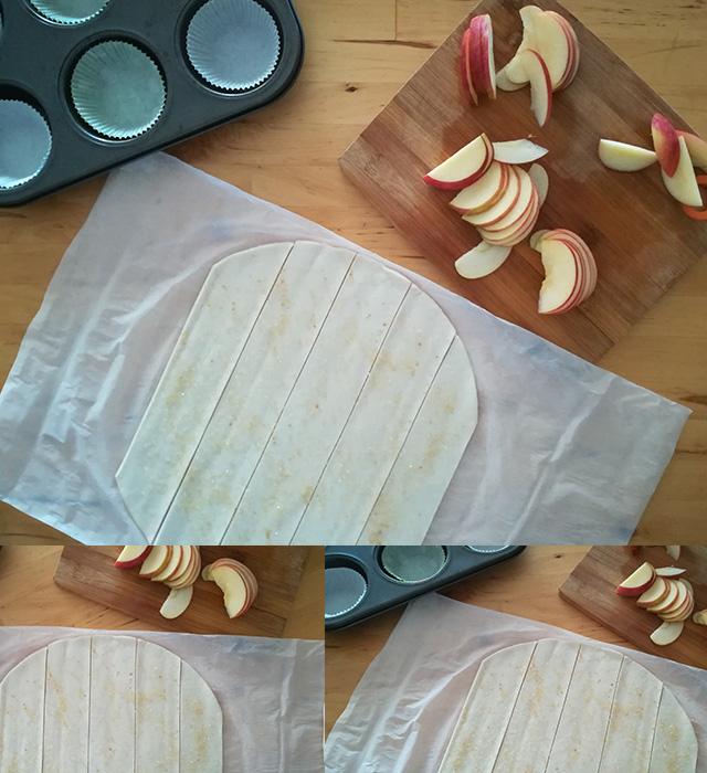 Rose di Mele- Eliminare le Estremità della Pasta Sfoglia Senza Glutine