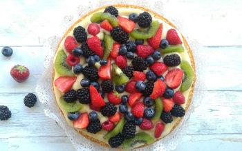 Torta alla Frutta con Crema Pasticcera al Limoncello